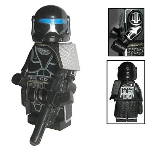 Custom Brick Design Shadow Commando Clone Trooper Figur - modifizierte Minifigur des bekannten Klemmbausteinherstellers und somit voll kompatibel zu Lego