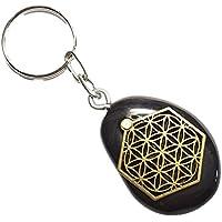 KRIO® - schöner Goldobsidian als Schlüsselanhänger/Accessoire mit der Blume des Lebens Applikation preisvergleich bei billige-tabletten.eu