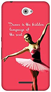 The Racoon Grip Dance Ballerina Pink hard plastic printed back case / cover for Sony Xperia E4