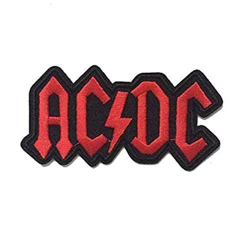 CoolPart Acdc Ac/Dc Music Band Logo Patch Rock Heavy Metal Punk Music Band Logo Patch Sew Iron On Embroidered Badge Sign Costume Gift Perfect Patches