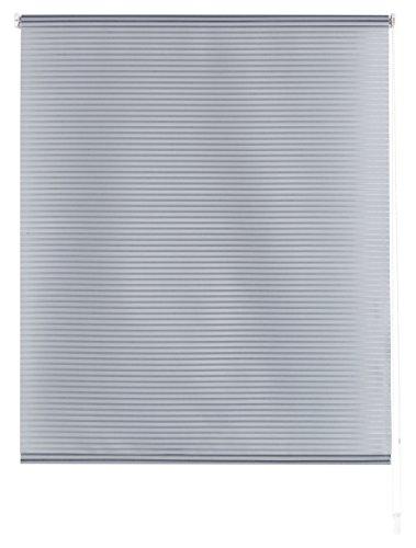 Blindecor Iris - Estor enrollable translúcido rayado, 140 x 180 cm, color gris