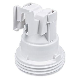 E27 Lampenfassung Kunststoff (PBT), Gewindefassung mit Halterung, Sockel mit 4,2 mm Schraubenloch Weiß (RAL 9003)