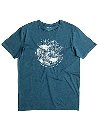 Herren T-Shirt Quiksilver Garment Dye Engraved T-Shirt Indian Teal