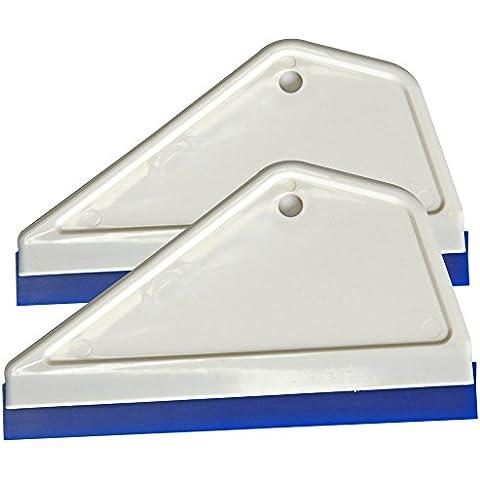 Ehdis® Súper Flex Agua escobilla de goma de silicona para la ventana de coche de cristal colada de la limpieza del limpiador de barrido 6 * 3.12 pulgadas - 2 piezas