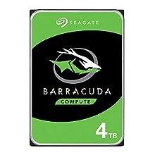 Seagate BarraCuda 4 TB HDD internal hard drive (8.9 cm (3.5 inch), 5400 rpm, 256 MB cache, SATA 6 Gb/s, silver) Model No.: ST4000DMZ04 / DM004, FFP