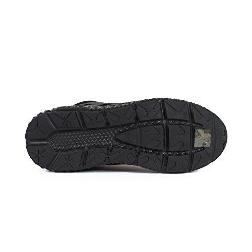 Emporio Armani EA7 chaussures baskets sneakers homme en daim spirit noir Noir