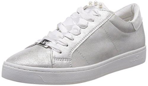 TOM TAILOR Damen 4892612 Sneaker, Silber (Silver), 39 EU