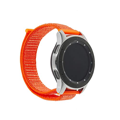 samLIKE Armband Nylon für Samsung Galaxy Watch 46mm für Herren und Damen Klettverschluss Ersatzarmband Atmungsaktiv Sport-Stil Einstellbar Band, 6 Farben, 230MM (Orange) -