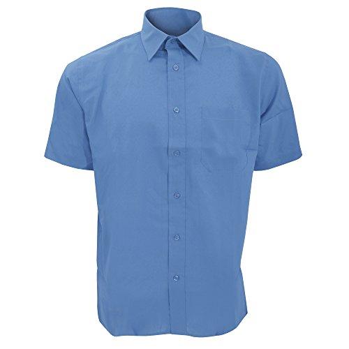 Sols Herren Berkeley Hemd/Arbeitshemd, Kurzarm (Medium) (Kobaltblau) -