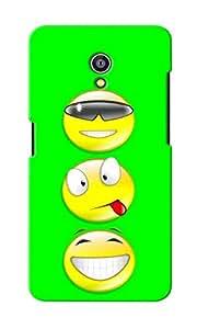 KnapCase Smiley Trio Designer 3D Printed Case Cover For Micromax Canvas Fire 4G Q411