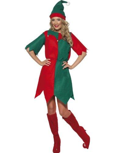 Generique - Weihnachtswichtel-Kostüm für Damen S