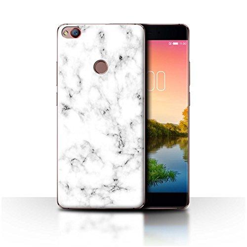 Stuff4® Hülle/Case für ZTE Nubia Z11 / Weiß Muster/Marmor Granit Bewirken Kollektion
