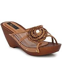 RIMEZS Slip On Wedges Sandals for Women & Girls