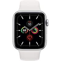 APPLE Watch Series 5 44mm (GPS Only) Aluminium Case Silver Sport Band White
