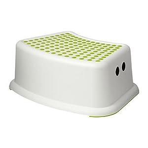 IKEA Kinderhocker FÖRSIKTIG, Weiß/Grün