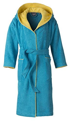 Preisvergleich Produktbild Egeria 501005 Calypso Kinder Jugend Bademantel, Baumwolle, 35 x 31 x 10 cm, Turkey Stein