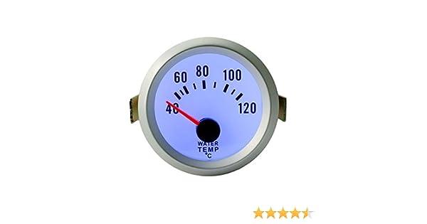 Sedeta 52mm Misuratore di temperatura dellacqua con il sensore 40-120 gradi Celsius 2 Temperatura dellautomobile universale Meter automatico universale