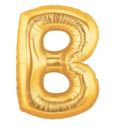 """Image of 40"""" 90cm Silver Gold Large Foil Helium Alphabet Letter Balloon Wedding Party A-Z (Gold B)"""