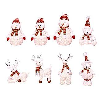 househome Decoración navideña Stand-Post Bear muñeco de Nieve muñeco de Alce Innovadora Ventana de Santa Decoración de árbol de Navidad