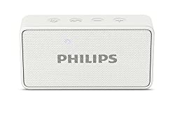 Philips BT64W Portable Bluetooth Speakers (White)
