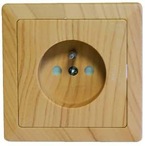 Voltman dio042444 prise 2 pole terre bois samba bricolage - Prise electrique en anglais ...