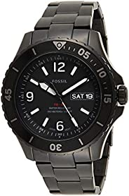 Fossil FB-02 Men's Black Dial Stainless Steel Analog Watch - FS