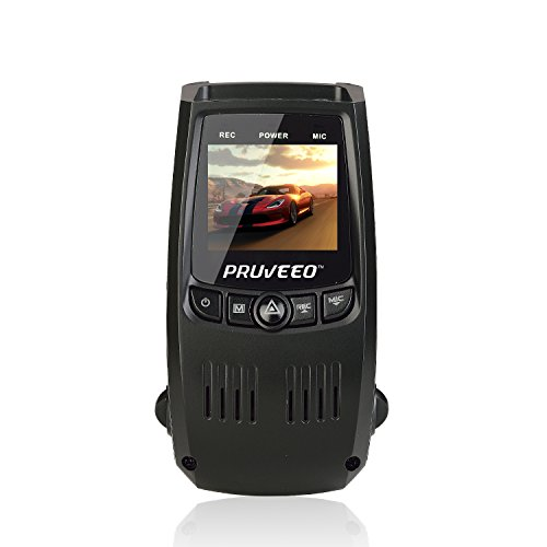 PRUVEEO F5 Car Dash Cam with Wifi, APP Support IOS & Android System, 140  Degree Wide Angle Dashboard