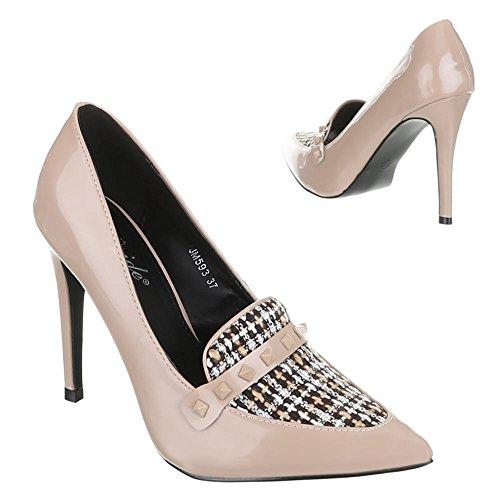 Ital-Design, Scarpe col tacco donna Beige (beige)
