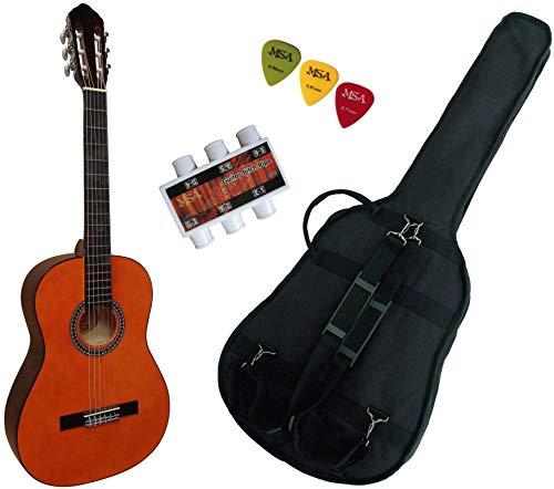 Pack Guitare Classique 4/4 (Adulte) Gaucher Avec 3 Accessoires (nature)