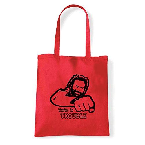 Art T-shirt, Borsa Shoulder Bud Spancer, Shopper, Mare Rosso