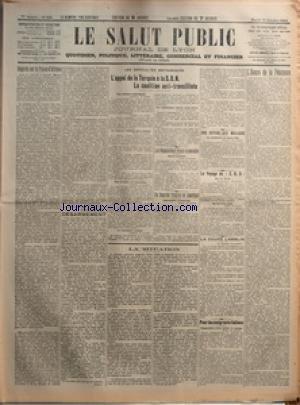SALUT PUBLIC (LE) [No 288] du 14/10/1924 - REGARDS SUR LA FRANCE D'AFRIQUE PAR LIEUT-COLONEL DE THOMASSON - AU JOUR LE JOUR - DESARMEMENT PAR CHABLY - LES DIFFICULTES BRITANNIQUES - L'APPEL DE LA TURQUIE A LA SDN - LA COALITION ANTI-TRAVAILLISTE - LES NEGOCIATIONS FRANCO-ALLEMANDES - UN EMPRUNT FRANCAIS EN AMERIQUE - LA SITUATION - UNE REPUBLIQUE MOLDAVE - LE VOYAGE DU Z R 3 - LA COUPE LAMBLIN - POUR LES EMIGRANTS ITALIENS - L'HEURE DE LA PENITENCE par Collectif