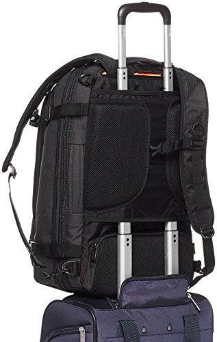 Best amazon backpacks in India 2020 AmazonBasics Slim Carry On Laptop Travel Weekender Backpack - Black Image 7