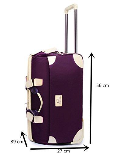 YAAGLE Handgepäck Reisekoffer Trolley Gepäck 2-Rad 54 Liter Reisetasche Leichtgewicht weinrot