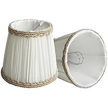 Splink Hall de lámpara pequeña forma de campana Clip-on E12/E14Lámpara de tela tulipas, 85* 120* 110mm, juego de 2