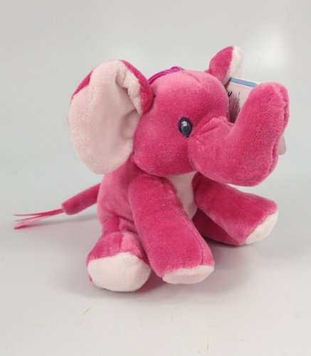 Aurora Plush Baby Rattle Safari Friends Pink Elephant