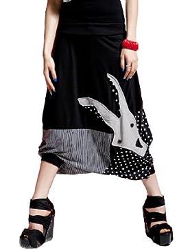 ELLAZHU Mujeres Cabra Capri bragas del cortocircuito pantalones GY09