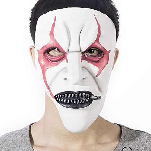 Blutige geschmolzene Gesichtsmaske, Horror-Zombie-Mumie-Latexmaske - 3D-Effekt-Gesichtshaut Grim Scary Zombie-Maske - für Erwachsene ()