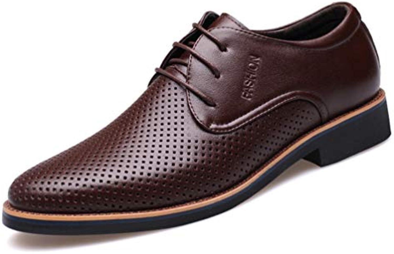 Los Hombres Visten los Zapatos Formales Verano Respirable Ahuecan los Zapatos Ocasionales de la Boda del Negocio...