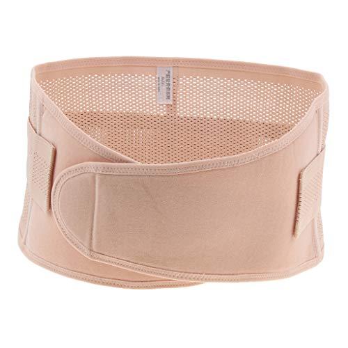 KESOTO Cotton Postpartum Gürtel Shapewear Wrap Band Taille Stützgürtel - Aprikose, L -