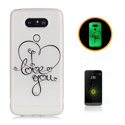 CaseHome LG G5 Luminous Hülle (Mit Frie Displayschutzfolie) Leuchtende Silikone Rückhülle Für iPhone 6 6s Plus 5.5 Zoll Zoll Silikon Etui Handy Hülle Weiche Transparente Luminous TPU Back Case Tasche  Ich liebe dich