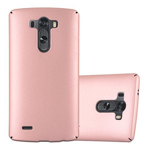Cadorabo Hülle für LG G3 - Hülle in Metall Rose Gold – Hardcase Handyhülle im Matt Metal Design - Schutzhülle Bumper Back Case Cover