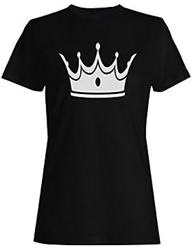 Novedad divertida del arte de la reina del rey de la corona camiseta de las mujeres a558f
