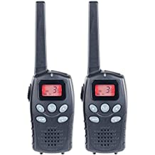 Simvalley communications–Juego de walkie talkies (profesional, hasta 10km, VOX, baterías, puerto USB, 2unidades)
