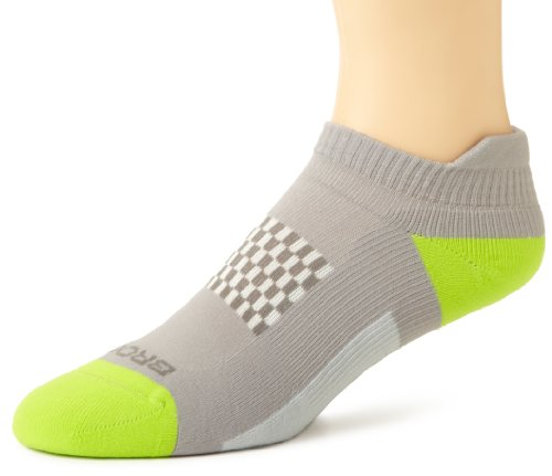 Brooks Infiniti Low Cut Tab Socke, RJ45 Pack Medium Grey/Lime/Dark Grey (Running Socken Brooks)