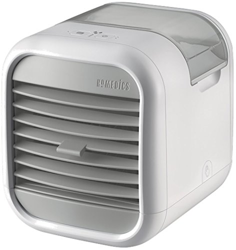 HoMedics MyChill 2 Personal Space Cooler, Chill Room by up to 7 Degrees, 1.2m Cooling Area, 2 Fan Speeds, Adjustable Louvre, Clean Water Tank Technology, Perfect for Office, Lounge, Bedroom - White