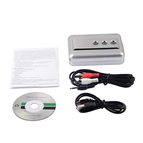Elviray Multifunktions-LP/Vinyl-Schallplatten-Band USB-Kassettenaufzeichnung Tragbare Musik-Kassetten-zu-MP3-Konverter-Kassettenrekorder Ipod Tv Konverter