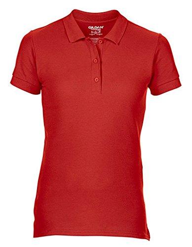 Gildan Premium Cotton® Ladies` Double Piqué Polo, Größe:L, Farbe:Red (Womens Polo Pique Premium)