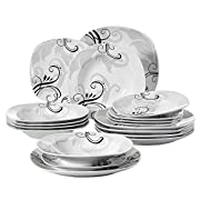 Dine in Style: Copri il tuo tavolo con Zoey Questo set di 18 pezzi di lastre Zoey di Veweet aggiunge un tocco di moderna eleganza ad ogni cucina e ogni tavolo da pranzo. Grazie al suo design chiaro e all'eccellente decorazione, il tuo tavolo...
