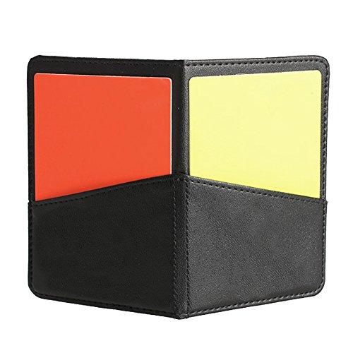 Tenflyer Neue Fußball-Fußball-Schiedsrichter-Gehäuse mit Rote Karte und Gelb