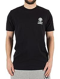Franklin & Marshall Herren Links oben Logo-T-Shirt, Schwarz